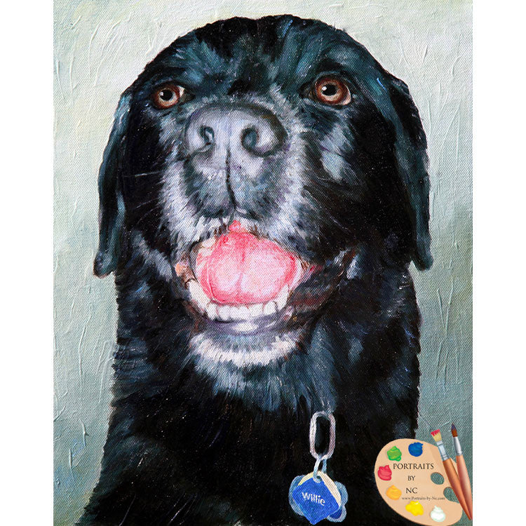 Black Labrador Dog Painting
