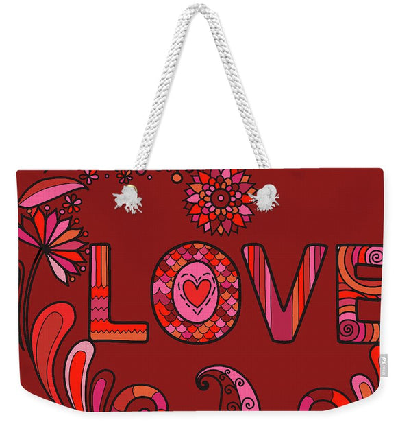 Boho Love - Weekender Tote Bag - Portraits by NC