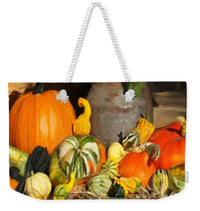 Bountiful Harvest - Floral Painting - Weekender Tote Bag - Portraits by NC