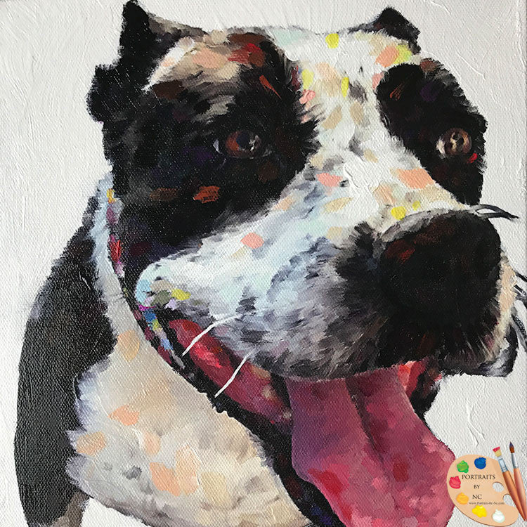 Modern Boxer Dog Portrait