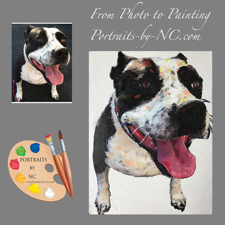 Boxer Dog Painting 518 - Portraits by NC