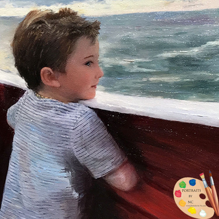 Boy Portrait Boy at Sea 583 - Portraits by NC