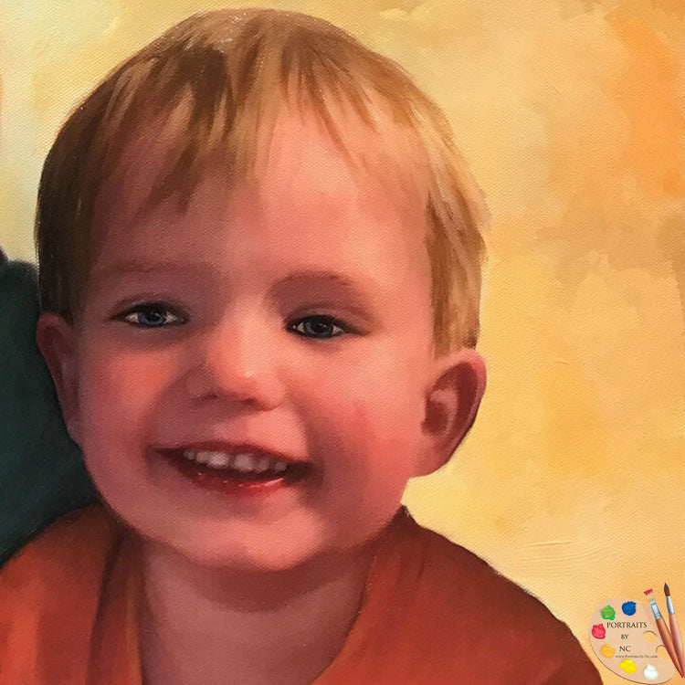 Boy Portrait in Oil