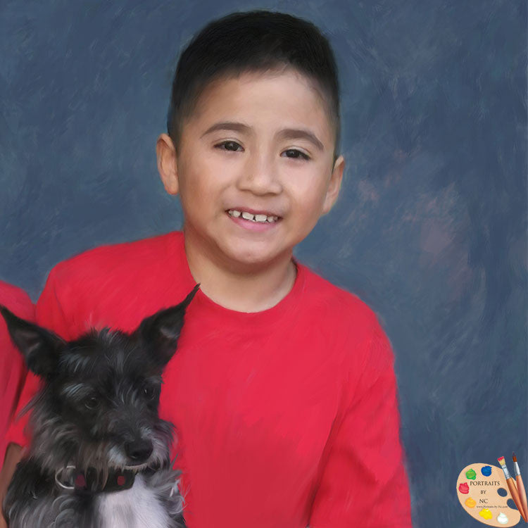 Boy with Dog Portrait 275
