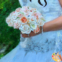 Bridal Portraits Bride in Garden 610 - Portraits by NC