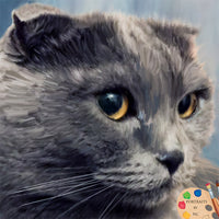British Shorthair Cat Painting