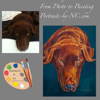 Brown Labrador Oil Portrait #193 - Portraits by NC