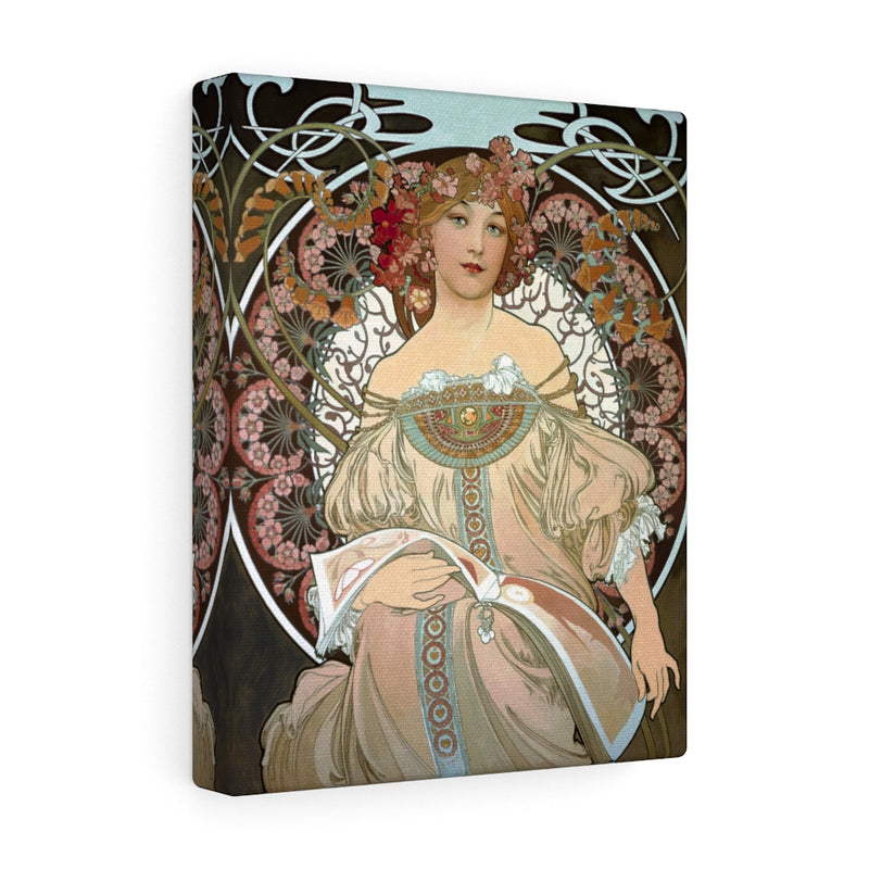 Day Dream After Alphonso Mucha Canvas Gallery Wraps