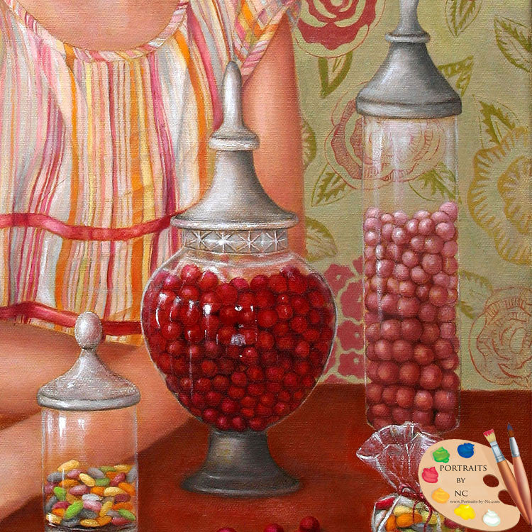 Painting of Candy Jars