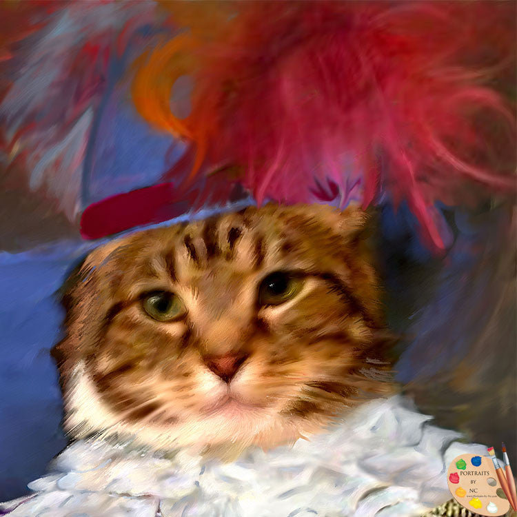 Cats in Costume Painting