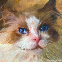 cat Oil Portrait