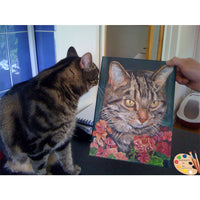Tabby Cat with Cat Portrait