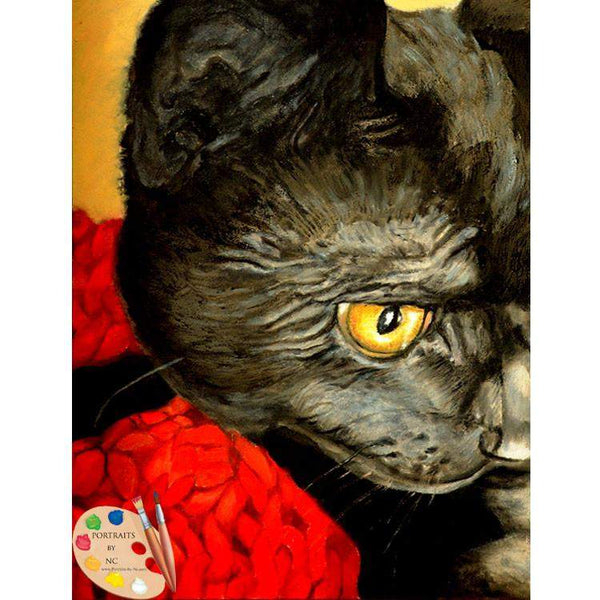 Black Cat Painting 75