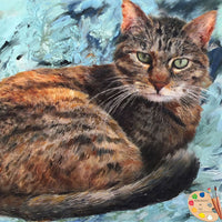 Tabby Cat Portrait 456