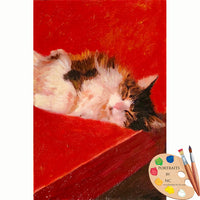 Tabby Cat Oil Portrait 624