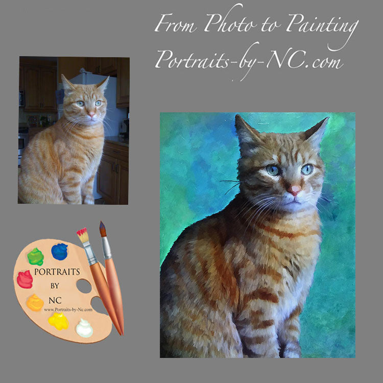 Tabby Cat Portrait from Photo