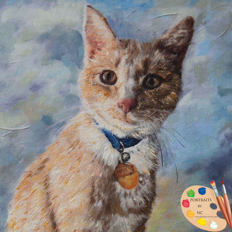 Tabby Cat Painting in Oil