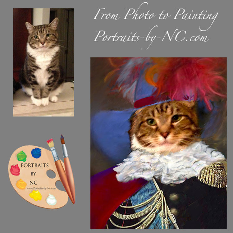 Cats in Costume Painting from Photo