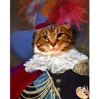 Cats in Costume Painting 376 - Portraits by NC