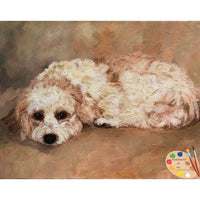 Cavachon Dog Painting