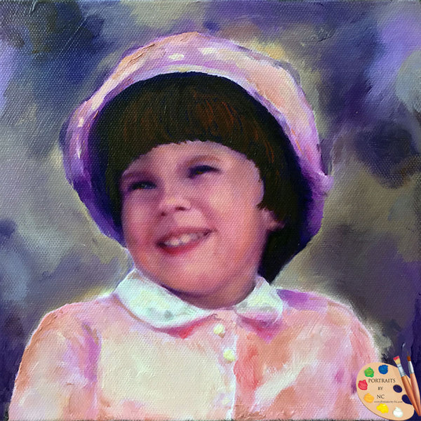 girl portrait in oil