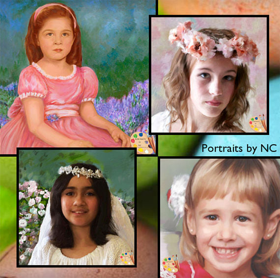 Custom Painted Child Portraits