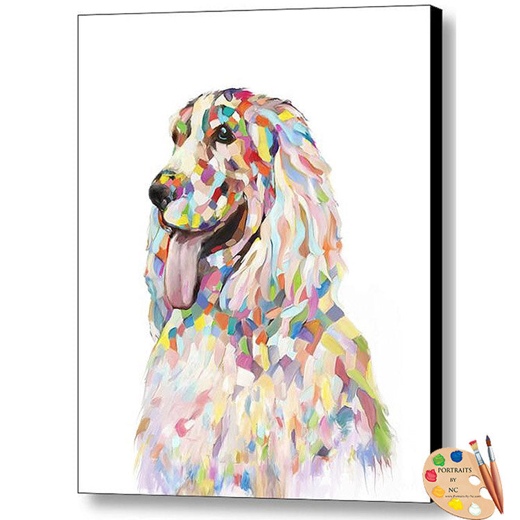 Cocker Spaniel Dog Portrait Canvas Print