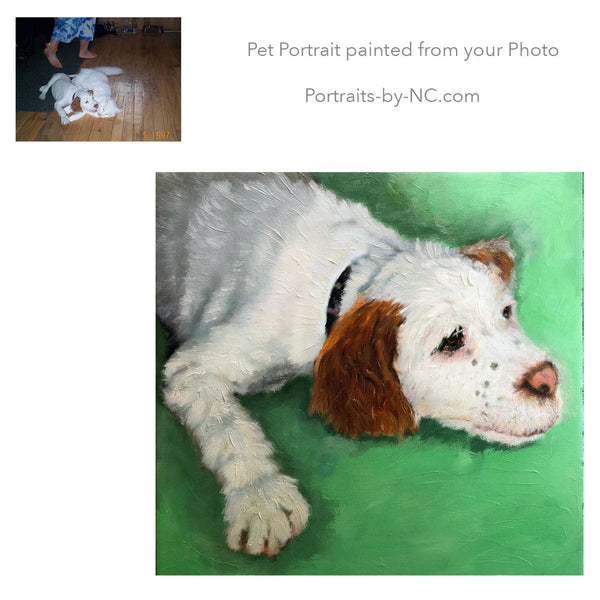 Puppy portraits painted from photo