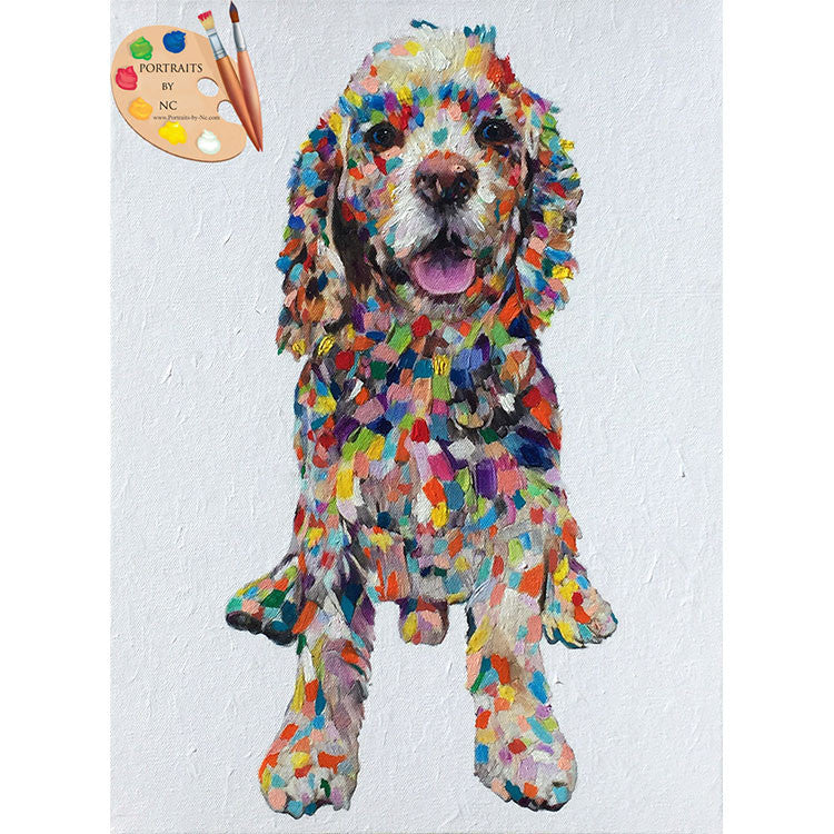 Colorful Cocker Spaniel Dog Painting