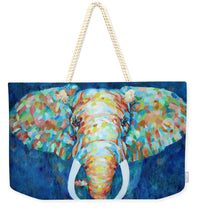 Colorful Elephant - Weekender Tote Bag - Portraits by NC
