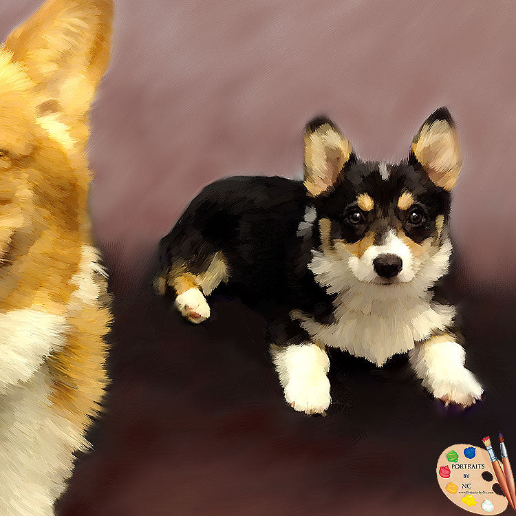 COrgi Puppy Painting