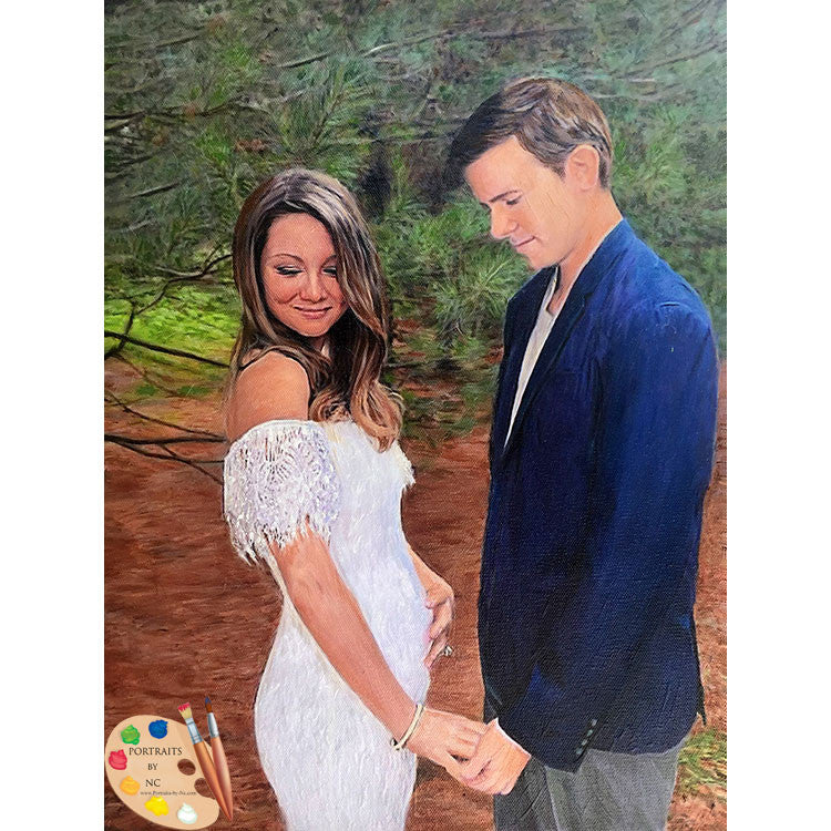 Expecting Couple Painting 420