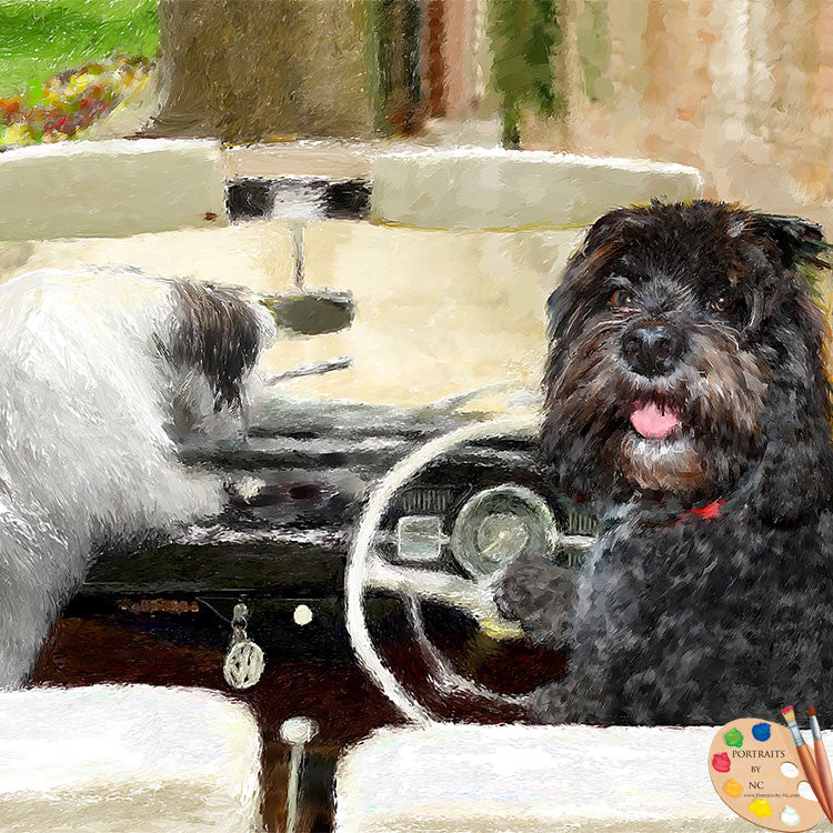 Dogs in Cars Portrait