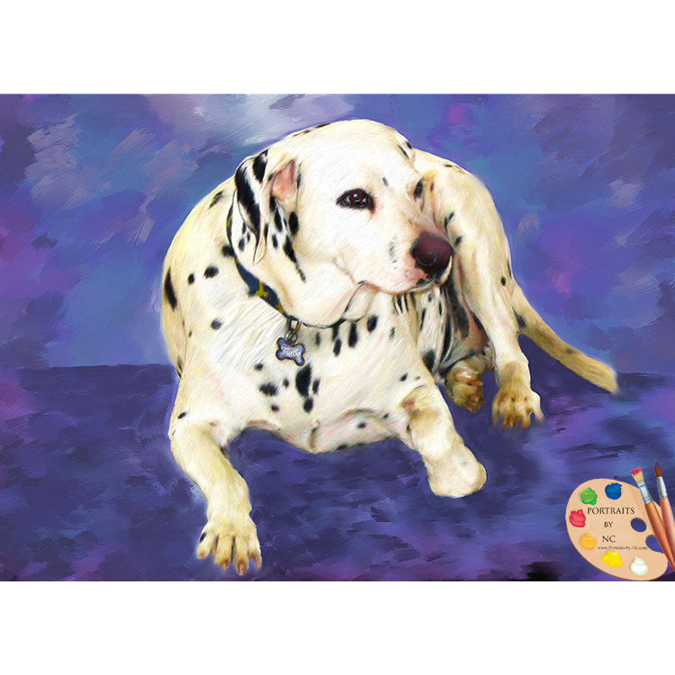 Dalmation Dog Painting