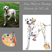 Dalmatian Modern Painting from Photo
