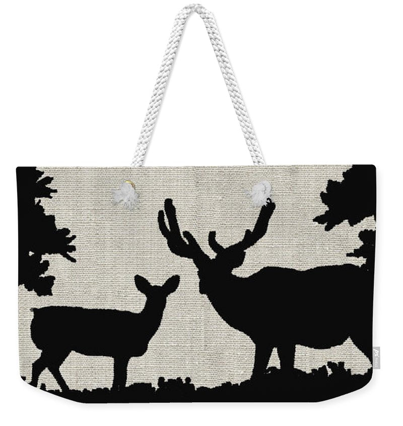 Deer In Forest - Weekender Tote Bag - Portraits by NC