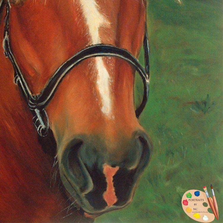 Brown Horse Portrait Painting 43 - Portraits by NC