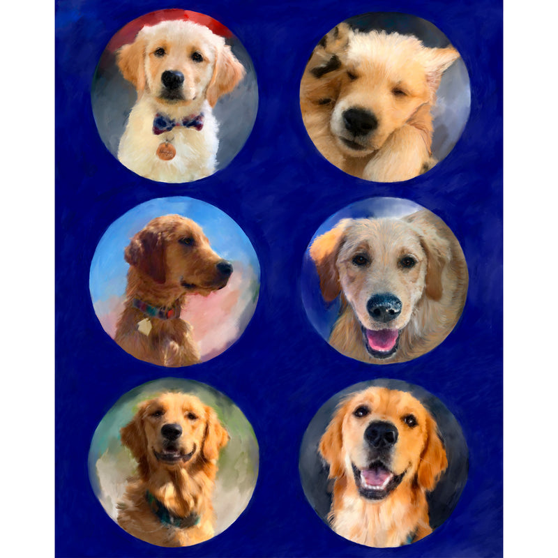 Golden Retriever Collage