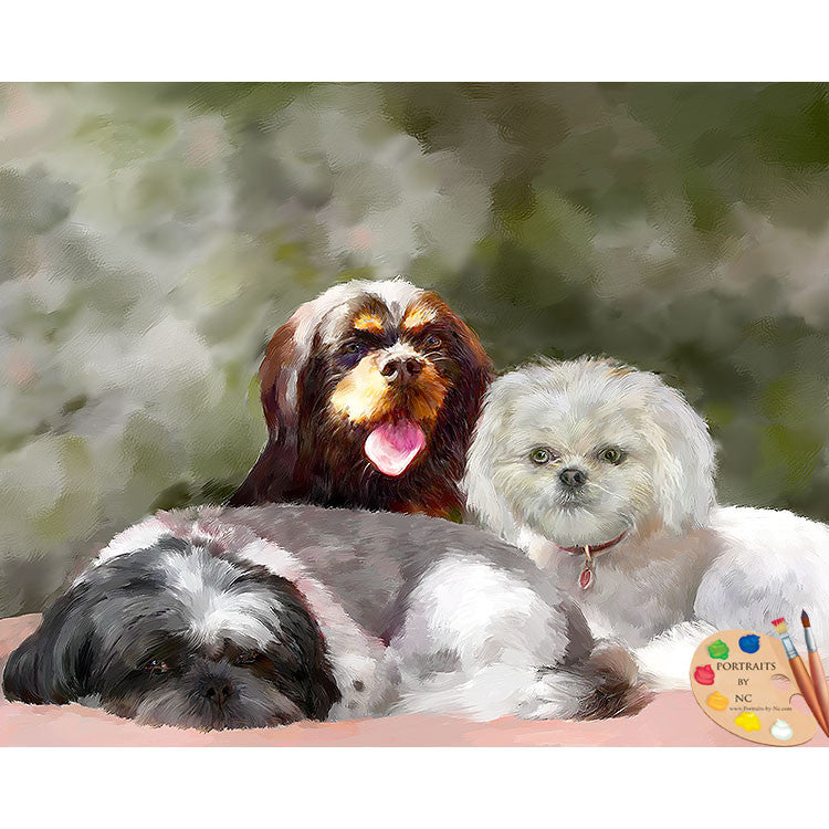 Group Dog Painting 561