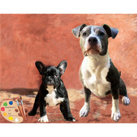 Group Dog Painting 380