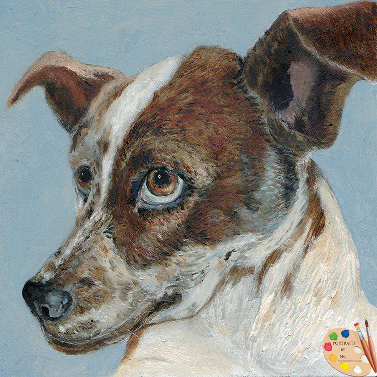 Painting of a Dog Rascal 160 - Portraits by NC