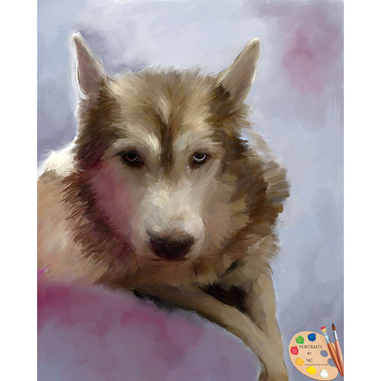 German Shepherd Dog Painting 573
