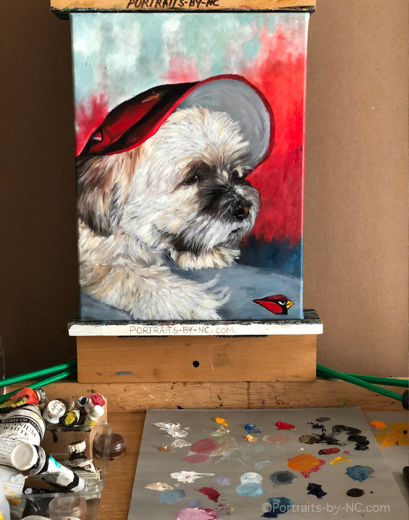 dog portraits 739 on easel