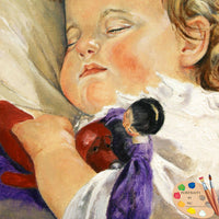 Sleeping Child with Toy Painting