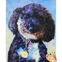 Doodle Dog Painting 556