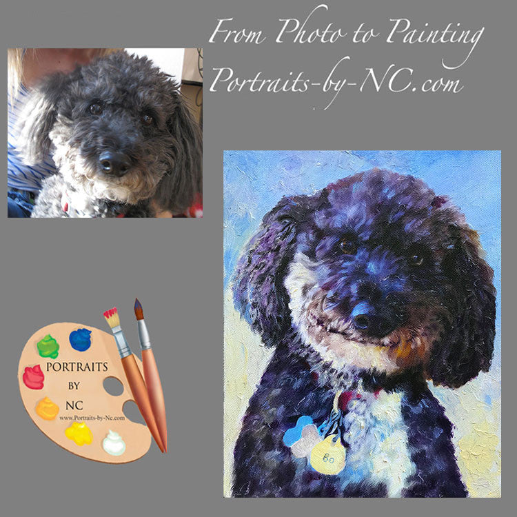 Doodle Dog Portrait from Photo 556