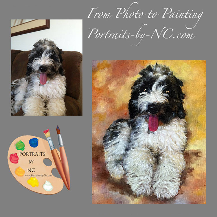 Doodle Dog Portrait from Photo 398