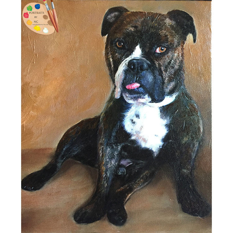 English Bulldog Dog Painting 396