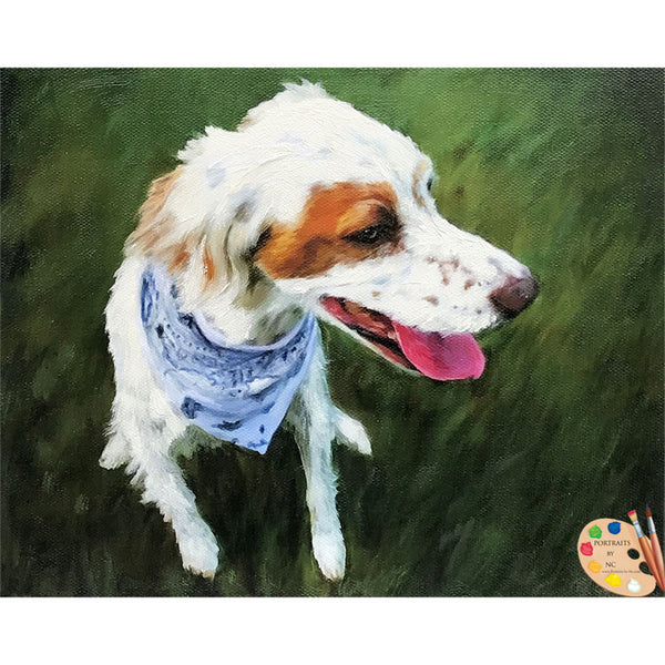 English Setter Oil Painting