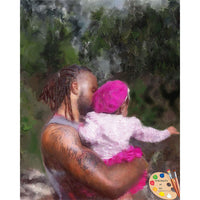 Family Portraits Father and Daughter Painting 340